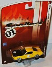 Forty Years r7 - 1965 ford mustang-Yellow/black - 1:64 Johnny Lightning