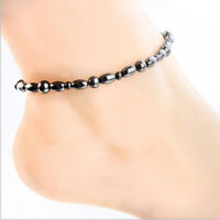 Magnetic Hematite Stone Therapy Care Weight Loss Anklet Foot Chain Bracelet KI