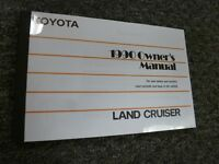 1990 Toyota Land Cruiser SUV Owner Owner's Manual User Guide 4.0L 4WD