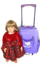 My Twinn Doll Blonde 1997 With Christmas Dress Under Wear and Backpack Suitcase
