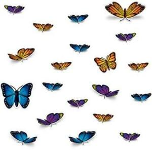 Butterfly Cutouts #3 20 Pack Summer Spring Floral Girls Birthday Party Decor