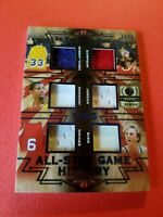 MICHAEL JORDAN LARRY BIRD MAGIC JOHNSON KAREEM DR J 6 JERSEY CARD #d1/30 LEAF