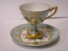 """Authentic France """"LeTallet a Paris"""" Porcelain Coffe Cup Hand Painted."""