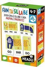 Headu- Fantasillabe Giochi Educativi, Multicolore, 3, IT23301 Multicolore