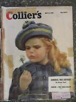 1948 May 15  Colliers Magazine  General MacArthur  VINTAGE ADS  Lou Boudreau