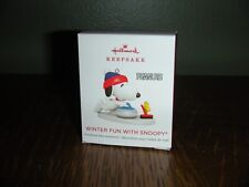 2018 Hallmark Miniature Ornament   ~ WINTER FUN WITH SNOOPY ~ 21ST IN THE SERIES