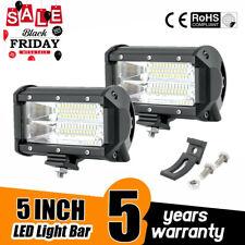 2X 5 INCH 140W Led Work Light Bar Pods Combo Cube Offroad SUV ATV 12V 24V Fog