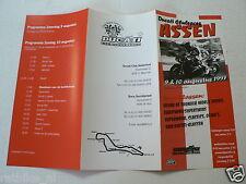1997 FLYER DUCATI CLUBRACES ASSEN  9 & 10 AUGUSTUS 1997