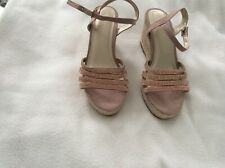 Ladies rose gold wedges size 4
