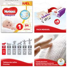 Huggies, Couches bébé Taille 1 (2-5 kg), 84 couches, Nouveau-nés, 1