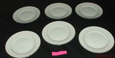 6 Vintage Harmony House Fine China Salad Plates Mary 3835 White Silvertone  #2