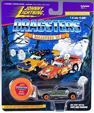 Johnny Lightning Dragsters Halloween '97 Bone Shaker Silver MOC 1997