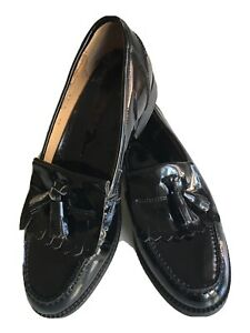 Russell And Bromley Black Leather Loafers Size UK5 EU38