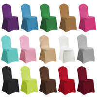 1/4/6/10 Spandex Stretch Folding Elastic Chair Cover Wedding Party Banquet Decor