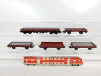 BZ962-0,5# 5x Märklin H0/AC Niederbordwagen/Güterwagen DB: 305 + 496 391