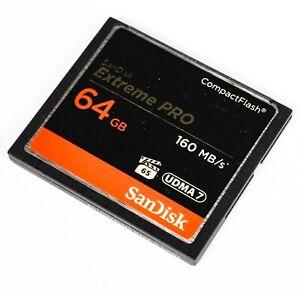 Sandisk CompactFlash 64GB 160MB/s Memory Card UDMA 7