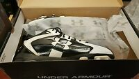 New Under Armour Team Combat Mid MC 1219123-011 Football Cleats Shoes Men's