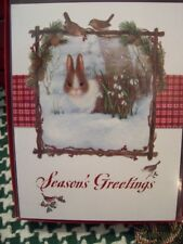 New listing Leanin Tree Christmas Card Set Bunny Rabbit In Winter 12Pk Buy It Now In Store