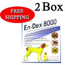 2 Box Pet Tablet Pill  Remove Prevent Ticks and Fleas for Big Dogs Cats