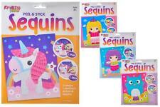 DIY 4 Pack Sequin Art Craft Kit Kids Childrens Creative Toy