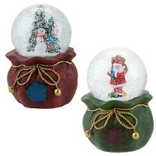 Christmas Decoration - Light Up Musical Snow Globe - 100mm - Choose Design