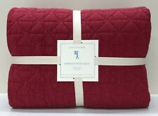 NEW Pottery Barn KIDS Garment Dyed FULL/QUEEN Quilt~Red