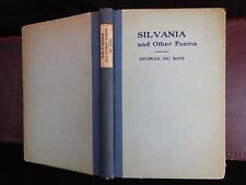 GEORGE DU BOIS: SILVANIA & OTHER POEMS/VERY RARE 1920 1st EDITION SIGNED