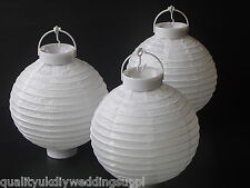 Round White Hanging Rice Paper LED Party Lantern Battery Portable Party Decorate
