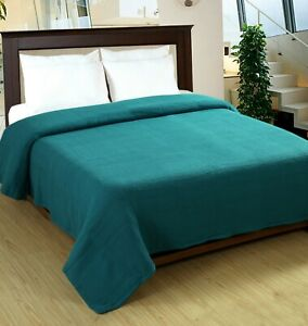 Cotton Bed Blanket -100% Soft Luxurious Thermal Twin/Queen/King  Excel Hometex