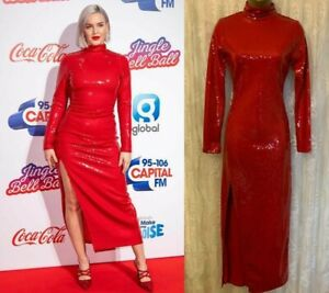 Warehouse Red X Ashish Embellished Maxi Long Valentine Party Prom Dress 8 to 14