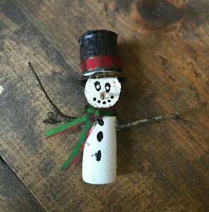 Handmade Wine Cork Christmas Decoration-Figurine-Snowman-Wine-Beer-Painted
