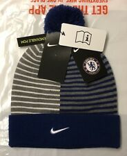 Nike AUTHENTIC CHELSEA FC MENS BEANIE HAT WITH REMOVABLE POM NEW WITH TAGS