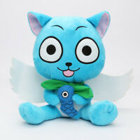 Anime Fairy Tail Blue Cat Cute Happy Cartoon Doll Plush Soft Toys Gift H27cm