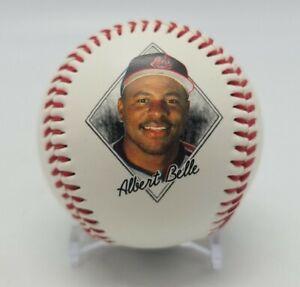 1995 ALBERT BELLE Baseball Photo Fotoball Official Size Weight Cleveland Indians