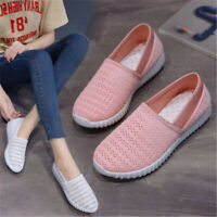 New Women Mesh Walking Shoes Casual Slip On Ladies Loafers Flats