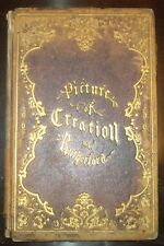 RARE, 1857, 1ST ED, T G RUTHERFORD, PICTURE OF CREATION, RELIGIOUS POETRY