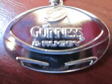 *GUINNESS* (RUGBY Ball) Key Ring in Chromed Metal. NEW & in original packaging.
