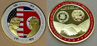 Donald Trump Gold Kim Jong Un Coin Peace Talks SIngapore USA DPRK Old Americana