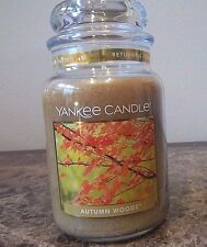 1 Yankee Candle NEW ~~Autumn Woods~~ 22 oz. Candles  VHTF   Rare    Free Ship