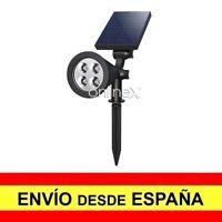 Foco Solar 4 LED Pincho Jardín Luz Alumbrado Exterior Entrega 48/72 H. a2948