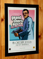 Grand Theft Auto Vice City Stories GTA Rare Small Poster /Old Ad Page Framed PS2