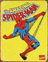 Spiderman Retro Tin Metal Sign 13 x 16in