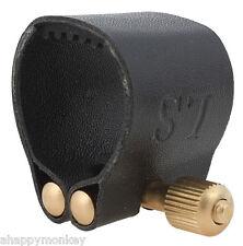 High Quality Alto Saxophone Mouthpiece Ligature and Cap Premium Leather