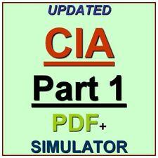 IIA Certified Internal Auditor Part 1 Test CIA Exam QA PDF+Simulator