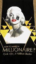 Marilyn Monroe Beach Towel How To Marry A Millionaire 28 x 58 inch Films Series