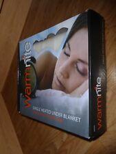 WARMNITE Electric Heat Under Blanket SINGLE Bed Winter OVER HEAT SETTING *NEW*