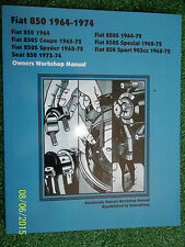 FIAT 850 850S COUPE SPYDER SPORT SEAT AUTOBOOK OWNERS WORKSHOP MANUAL 1964-1974