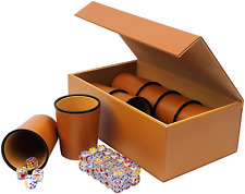 More details for vogvigo dice cup set pu leather, party games includes 8 cups+48 dice+ exclusive