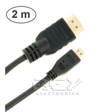 Cable HDMI 1.4 a MICRO HDMI con Ethernet, Resolución XHD, 3D 2m Calidad v157