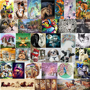 5D Diamond Painting Full Diamant Kreuzstich Stickerei Malerei Tiere Bilder Deko
